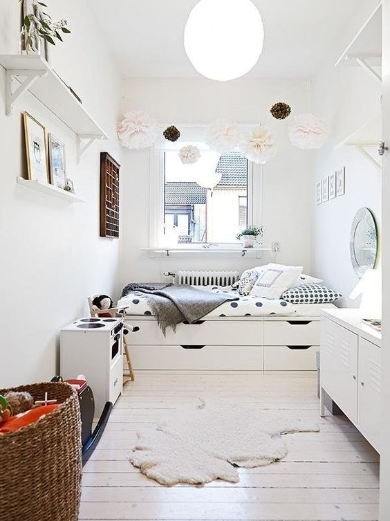 35 Brilliant Small Space Designs   Platform bed with storage .