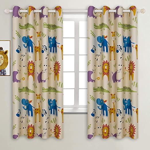 Amazon.com: BGment Kids Blackout Curtains - Grommet Thermal .