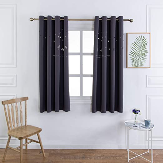 Amazon.com: MANGATA CASA Baby Nursery Blackout Curtains Cutout .