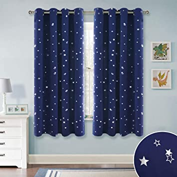 Amazon.com: RYB HOME Kids Blackout Curtains - Grommet Curtains for .