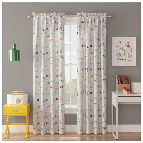 "42""x63"" Adogable Blackout Curtain Panels - Waverly Kids : Targ"