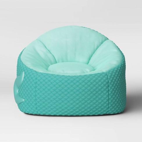 Kids' Character Bean Bag Chair Mermaid Aqua - Pillowfort™ : Targ