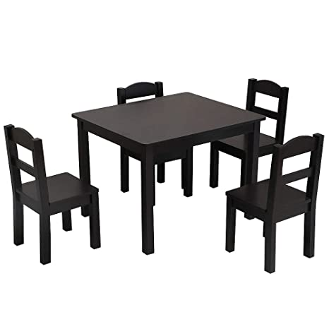 Amazon.com: SILAMI Kids Wood Table and Chairs Set, Toddler .