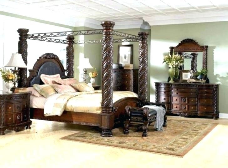 King Bedroom Set With Armoire | Bed | Canopy bedroom sets, Bedroom .