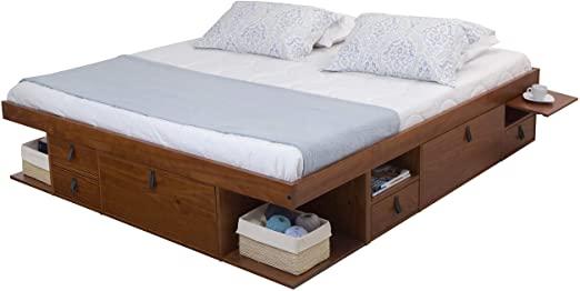 Amazon.com: Memomad Bali Storage Platform Bed with Drawers (King .