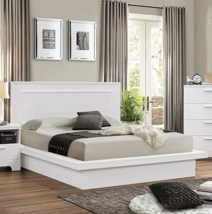 Myco Furniture Moderno Collection King Size Platform Bed with Low .