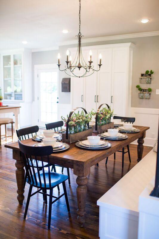 Fixer Upper | Dining room design, Farmhouse dining room table .