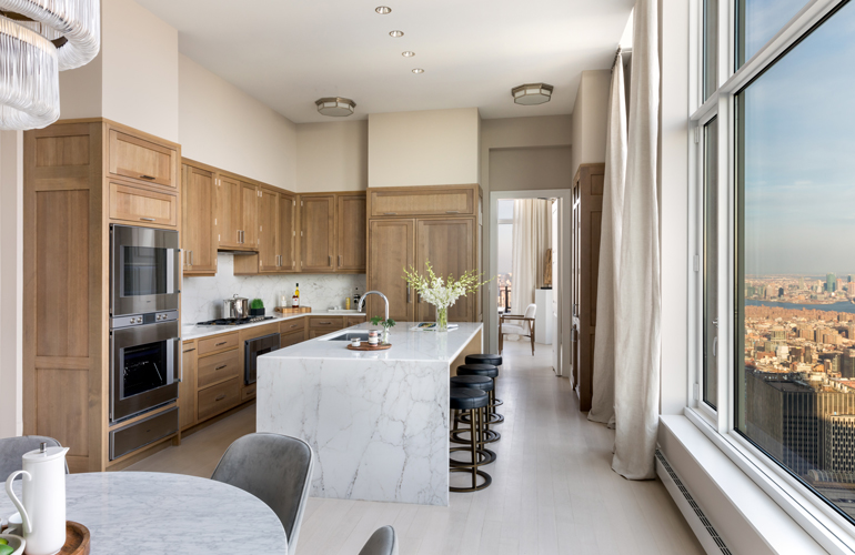 Statement Kitchens Complete These Luxury, Sky-High Apartmen