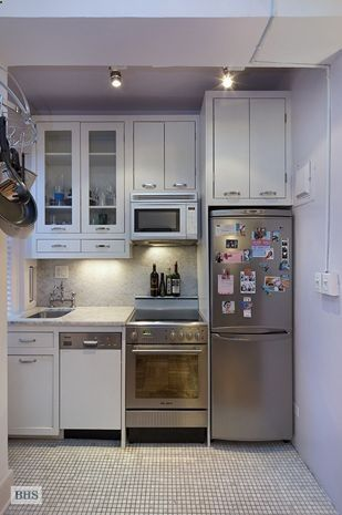 24 Fifth Avenue, small kitchen in an apartment in Greenwich .