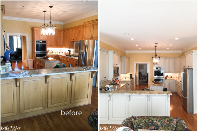 Painted Cabinets Nashville TN Before and After Phot