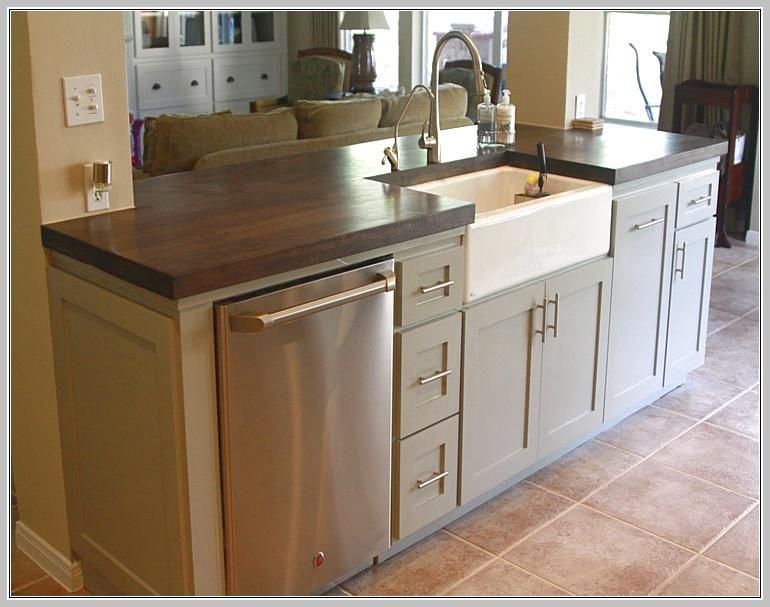 Small Kitchen Island With Sink And Dishwasher | Kitchen design .