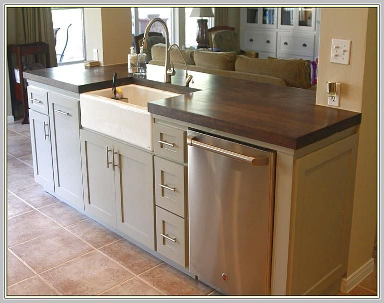 Kitchen Island With Sink And Dishwasher | Building a kitchen .