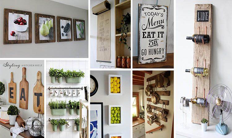 20 Gorgeous Kitchen Wall Decor Ideas to Stir Up Your Blank Walls .