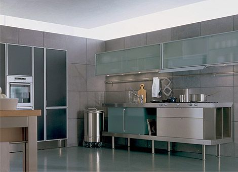 Kitchen Wall Cabinets With Glass Doors   For Storage