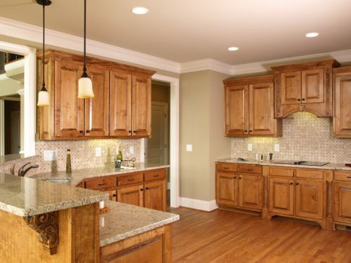 Top Kitchen Paint Colors with Wood Cabinets | Tuscan kitchen .