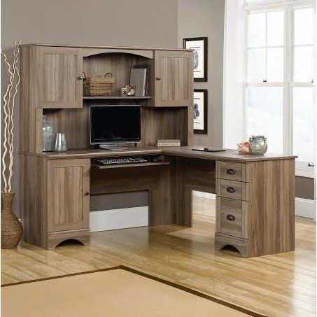 Corner Computer Desk with Hutch - Harbor View | RC Willey .