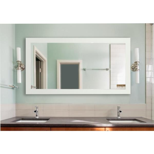 70 in. x 35 in. Delta White Double Vanity Mirror DV087M - The Home .