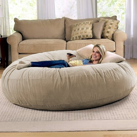 Jaxx 6 Foot Cocoon - Large Bean Bag Chair for Adults, Camel .