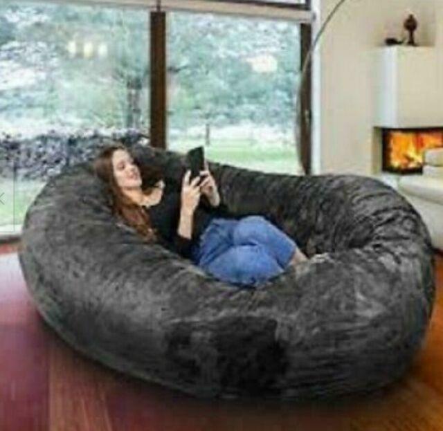 Noble House 294973 8ft Lounger Bean Bag - Black for sale online | eB