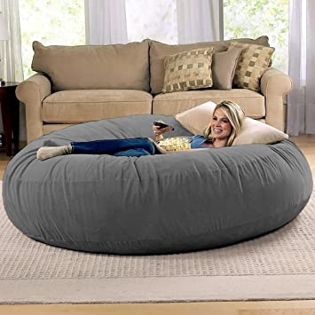 Amazon.com: Jaxx 6 Foot Cocoon - Large Bean Bag Chair for Adults .