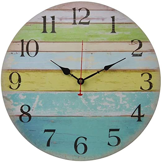 Amazon.com: Old Oak 16-Inch Large Beach Wall Clock Decorative .