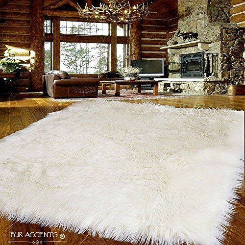 Amazon.com: Fur Accents Large Faux Sheepskin Shag Area Rug .