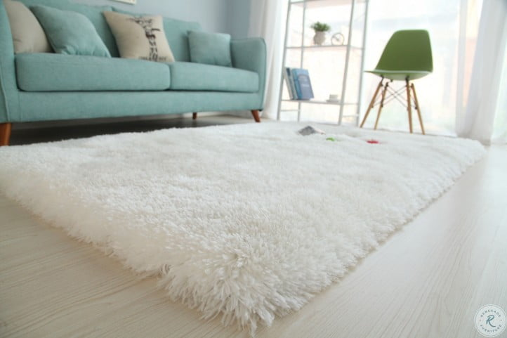 Long Pile Snow White Shag Large Area Rug from Amazing Rugs .