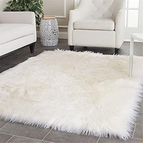 Large White Shag Area Rug