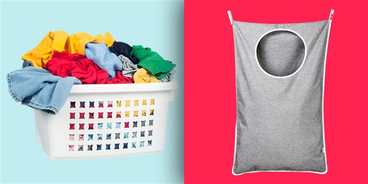 This $14 hanging laundry hamper is perfect for small spac