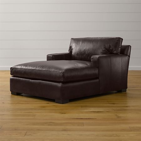 Axis II Leather Chaise Lounge + Reviews   Crate and Barr