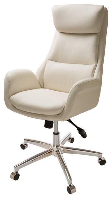 Cream Leather Office Chair - Contemporary - Office Chairs - by .