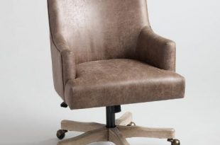 Brown Faux Leather James Upholstered Office Chair | World Mark