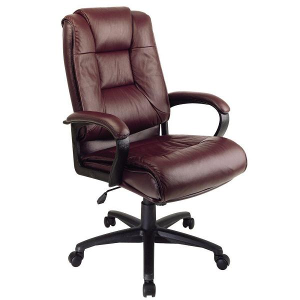 Office Star Products Burgundy Leather High Back Executive Office .
