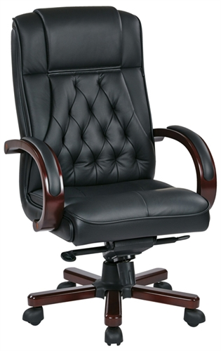 Tradittional High Back Executive Leather Office Chair by Office St
