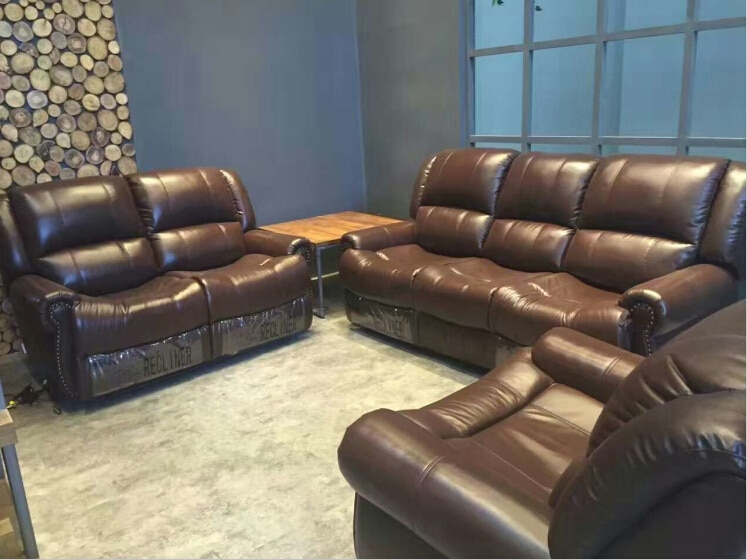Living room sofa modern sofa set recliner sofa with Top grain .
