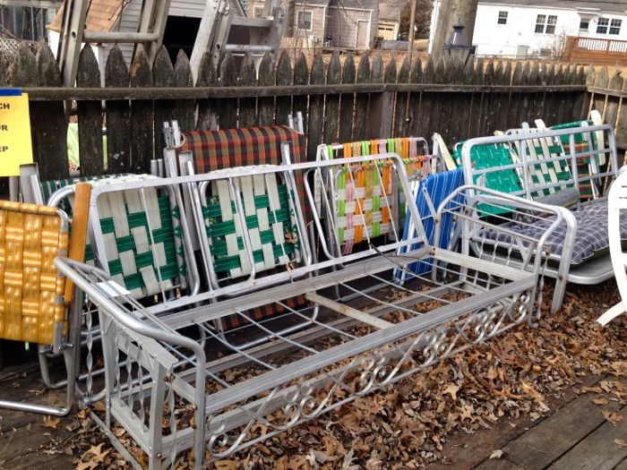 Design Watch: Vintage Aluminum Folding Lawn Chairs - At Home in .