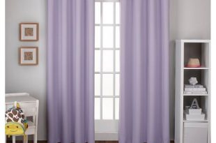 """Woven Blackout Curtain Panel Set Lilac (52""""x84"""") - Exclusive Home ."""