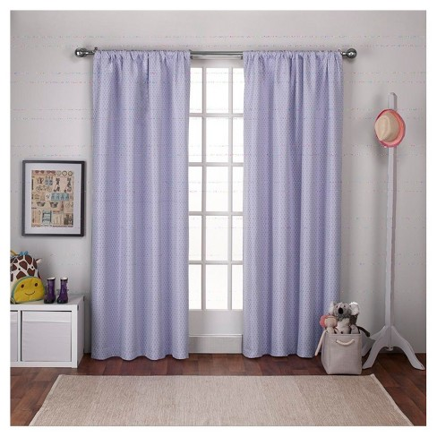 "Polka Dot Blackout Curtain Panel Set Lilac (54""x108"") - Exclusive ."