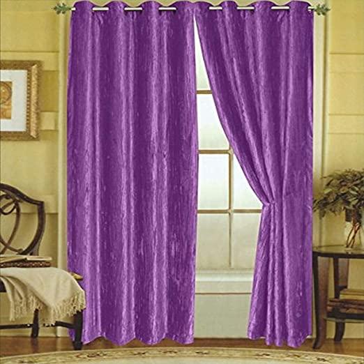 Amazon.com: Editex Home Textiles Susane Crushed Velvet Curtain .