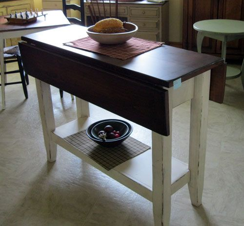 Narrow drop leaf Dining Table with storage …   Dining table with .