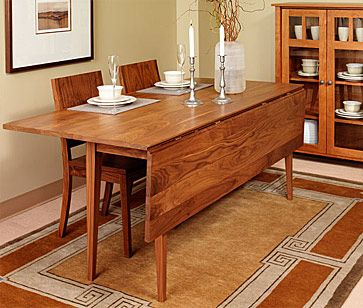 Zoe Pedestal Dining Table Cherry   Narrow dining tables, Dining .