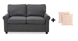 Amazon.com: Alex's New Sofa Sleeper Black Convertible Couch .