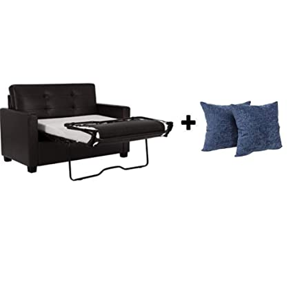 Amazon.com: Alex's New Sofa Sleeper Black Convertible Couch .