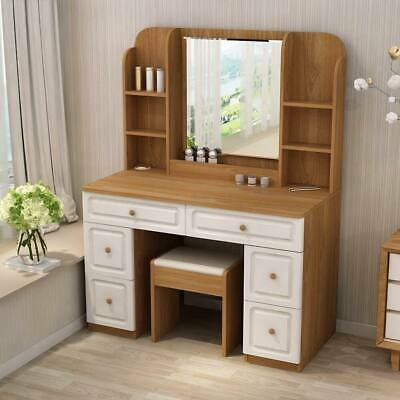 Table Chair Set With Mirror Cabinet Dressing Makeup Table With .