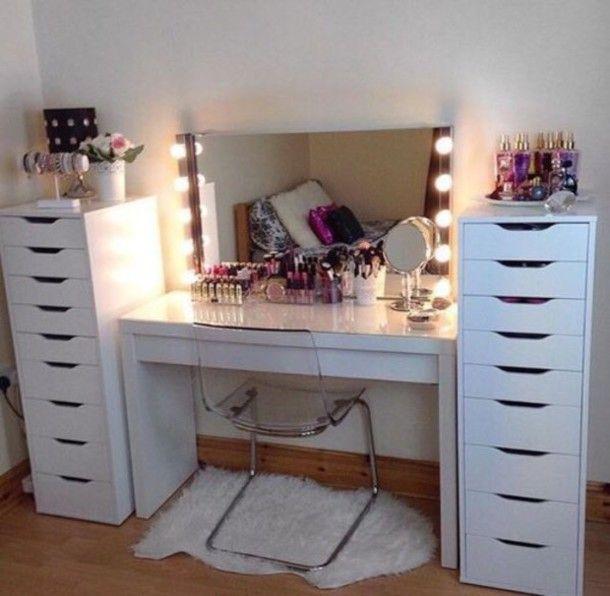 Custom Handmade Hollywood Style Vanity Mirror with Lights | Beauty .
