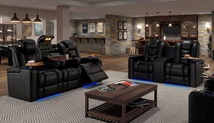 Media Room Furniture | Theater Sectional | Theater Sofa Seati
