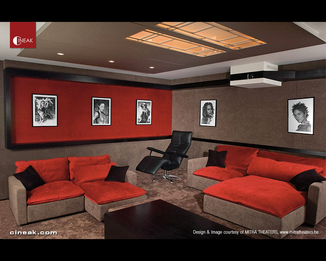 Media Room with Cineak Seats - Contemporary - Home Theater - Other .