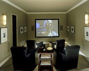 Small Media Room Design Ideas, Pictures, Remodel and Decor | Small .