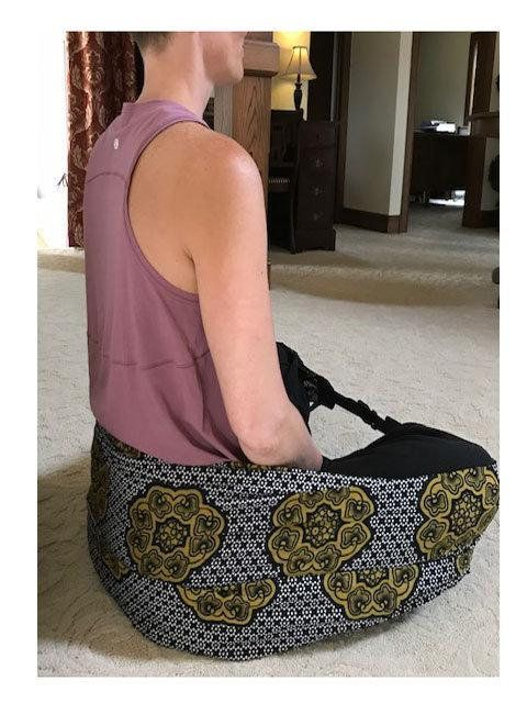Seat Sling, Back Support, Yoga, Meditation Seat, Seat to Go .