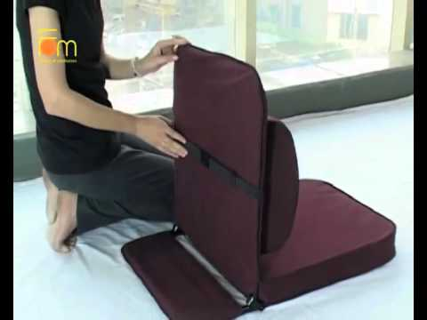Relaxing Buddha : Meditation Chair with detachable wide back .
